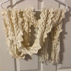 *Free Add On* Ultra Long Knit Scarf - White